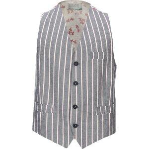 ニール カッター NEILL KATTER メンズ ベスト・ジレ トップス【suit vest】Slate blue