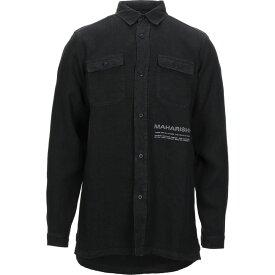 マハリシ MAHARISHI メンズ シャツ トップス【linen shirt】Black