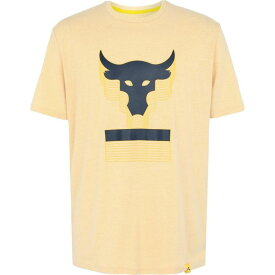 アンダーアーマー UNDER ARMOUR メンズ Tシャツ トップス【project rock abov the bar ss t】Yellow
