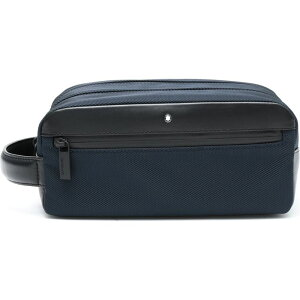 モンブラン MONTBLANC メンズ ポーチ トラベルポーチ【My Nightflight Wash Bag With 2 Zips】Dark blue
