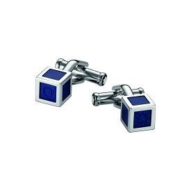 モンブラン MONTBLANC メンズ カフス・カフリンクス 【cufflinks, stainless steel with blue lacquer inlay cufflinks and tie clips】Blue