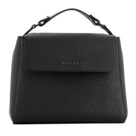オルチアーニ Orciani レディース バッグ ハンドバッグ【Black leather handle bag】Black