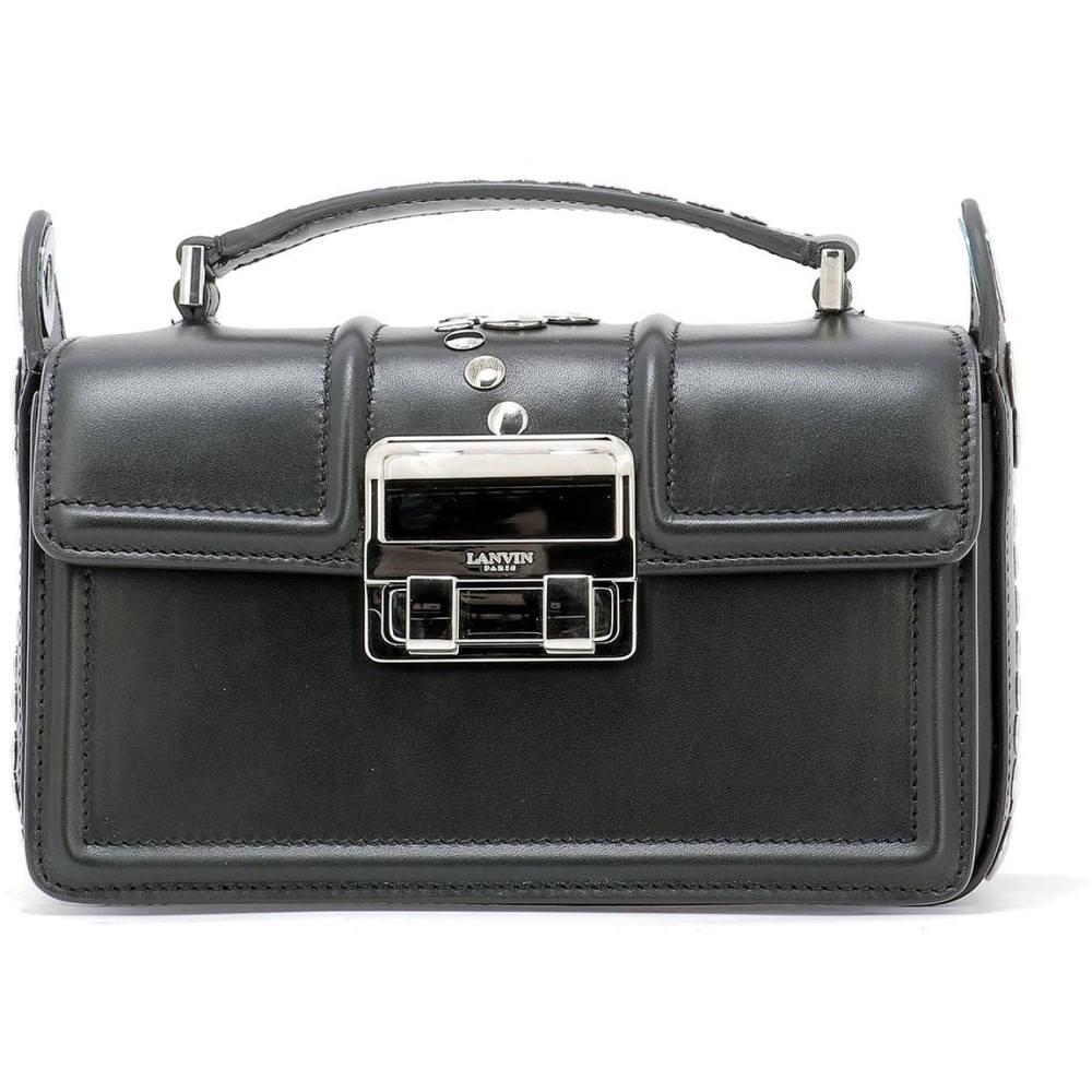 ランバン Lanvin レディース バッグ ハンドバッグ【Black leather handle bag】Black