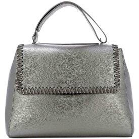 """オルチアーニ Orciani レディース バッグ ハンドバッグ【""""Chain"""" handle bag】Grey"""