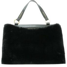 """オルチアーニ Orciani レディース バッグ ハンドバッグ【""""Ecofur"""" handle bag】Black"""