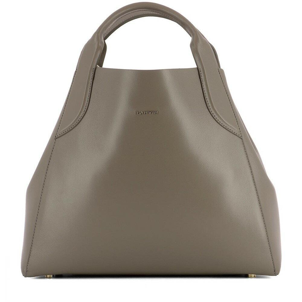 ランバン Lanvin レディース バッグ ハンドバッグ【Grey leather handle bag】Grey