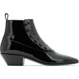 """イヴ サンローラン Saint Laurent レディース ブーツ シューズ・靴【""""Gatsby"""" patent leather boot】Black"""