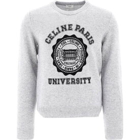 セリーヌ Celine メンズ ニット・セーター トップス【Flocked Cashmere Sweater】Gray
