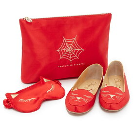 シャーロットオリンピア Charlotte Olympia レディース シューズ・靴 スリッパ【Cat Nap Slipper Set】Red