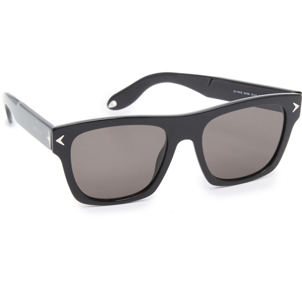 ジバンシー Givenchy レディース アクセサリー メガネ・サングラス【Flat Top Sunglasses】Black/Grey