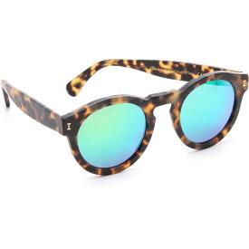 イレステーバ Illesteva レディース アクセサリー メガネ・サングラス【Leonard Matte Mirrored Sunglasses】Matte Tortoise/Green