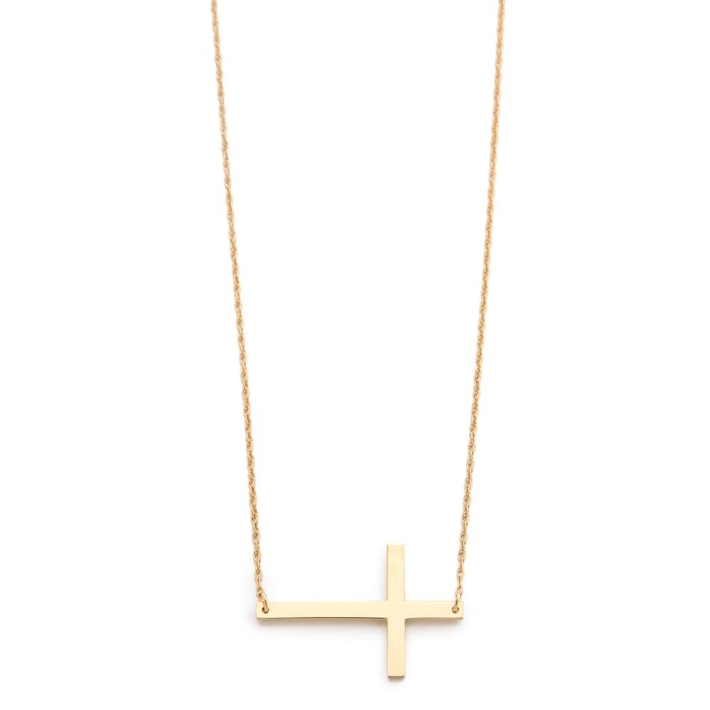 ジェニファーズーナー Jennifer Zeuner Jewelry レディース アクセサリー ネックレス【Horizontal Cross Necklace】Gold