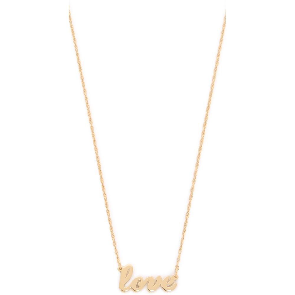 ジェニファーズーナー Jennifer Zeuner Jewelry レディース アクセサリー ネックレス【Cursive LOVE Necklace】Gold