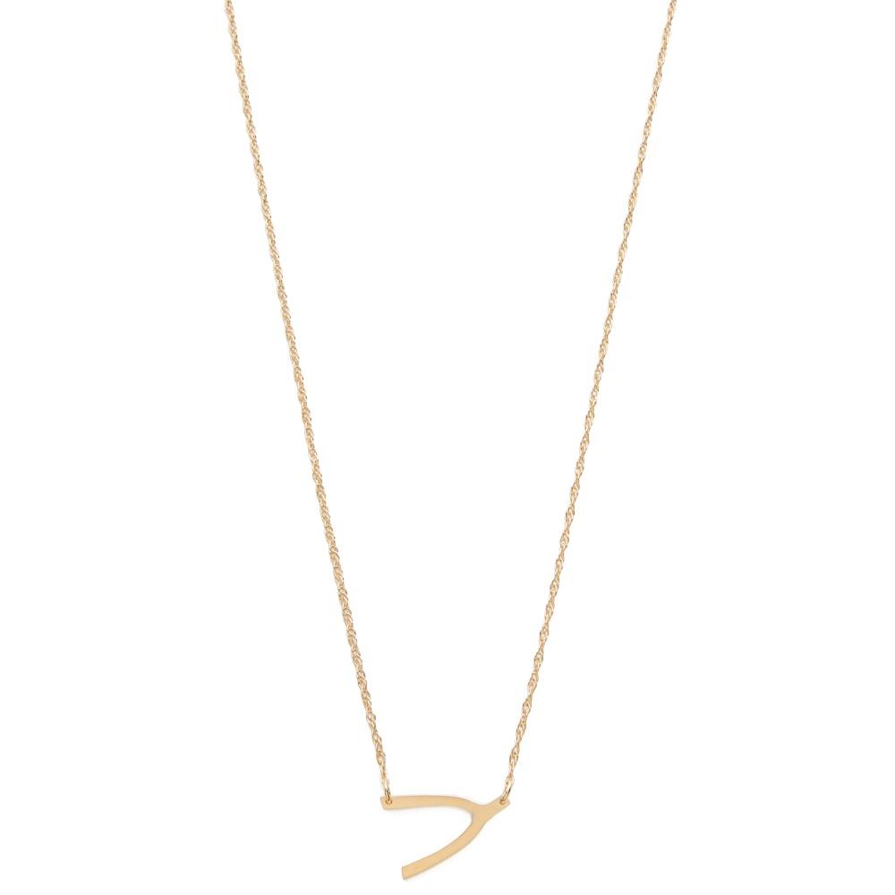 ジェニファーズーナー Jennifer Zeuner Jewelry レディース アクセサリー ネックレス【Mini Wishbone Necklace】Vermeil