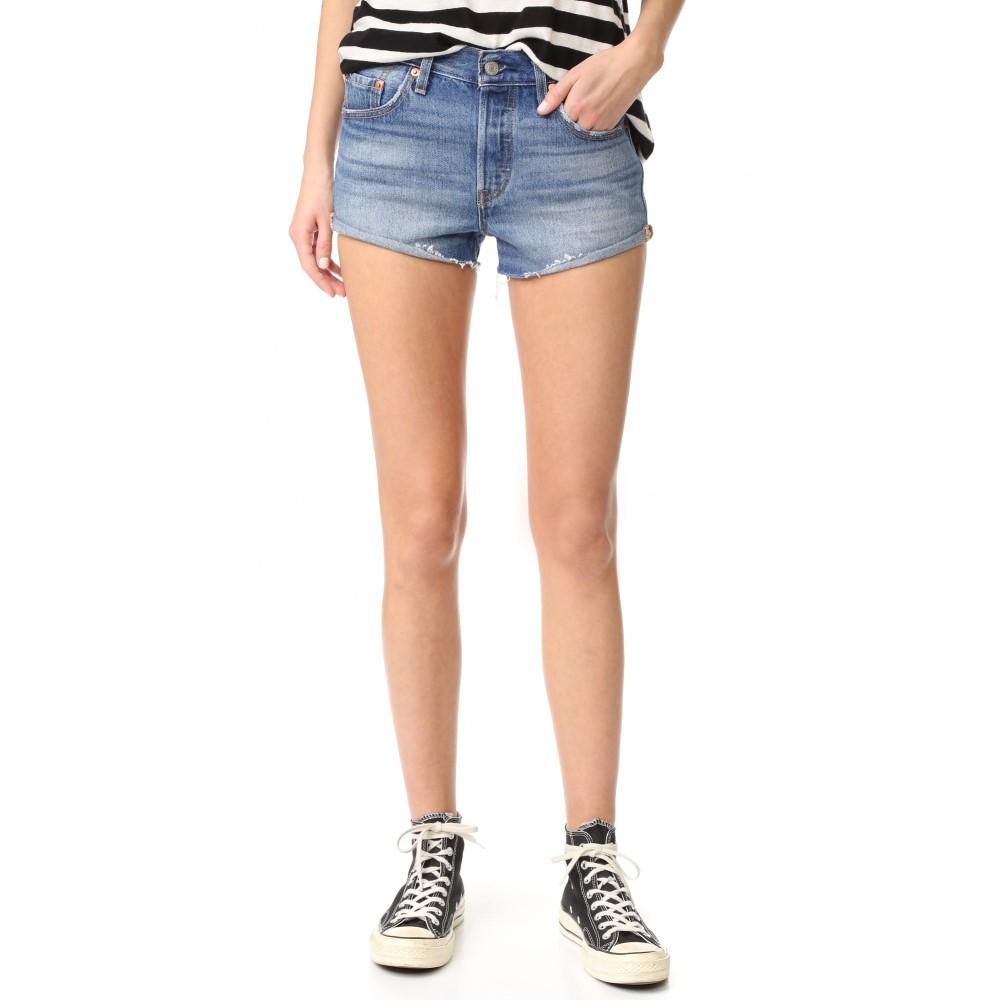 リーバイス Levi's レディース ボトムス ショートパンツ【501 Shorts】Blue Explorer