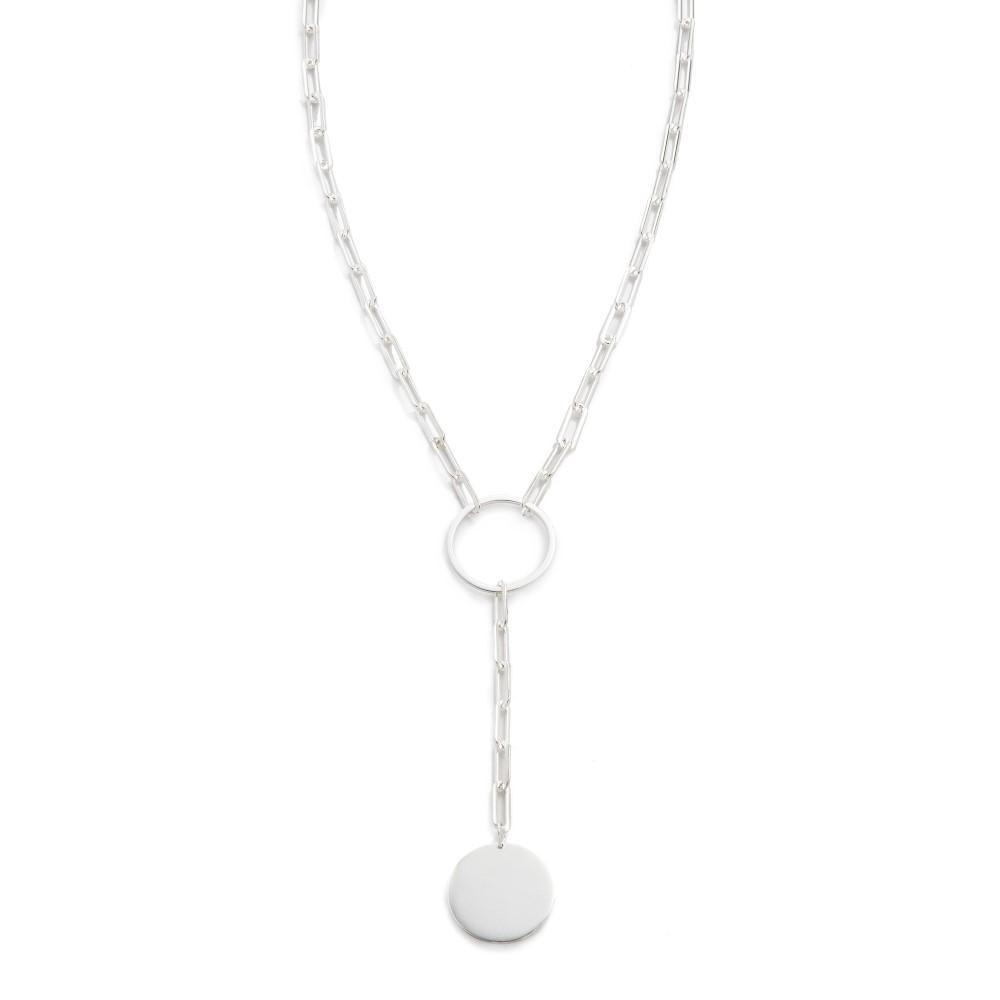 ジェニファーズーナー Jennifer Zeuner Jewelry レディース アクセサリー ネックレス【Marla Lariat Necklace】Silver