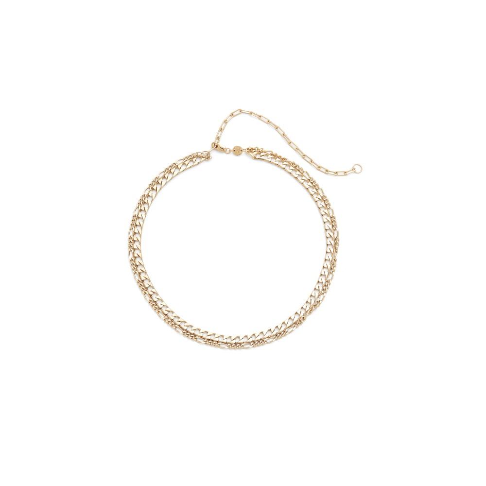 ジェニファーズーナー Jennifer Zeuner Jewelry レディース アクセサリー ネックレス【Amanda Double Chain Choker Necklace】Gold