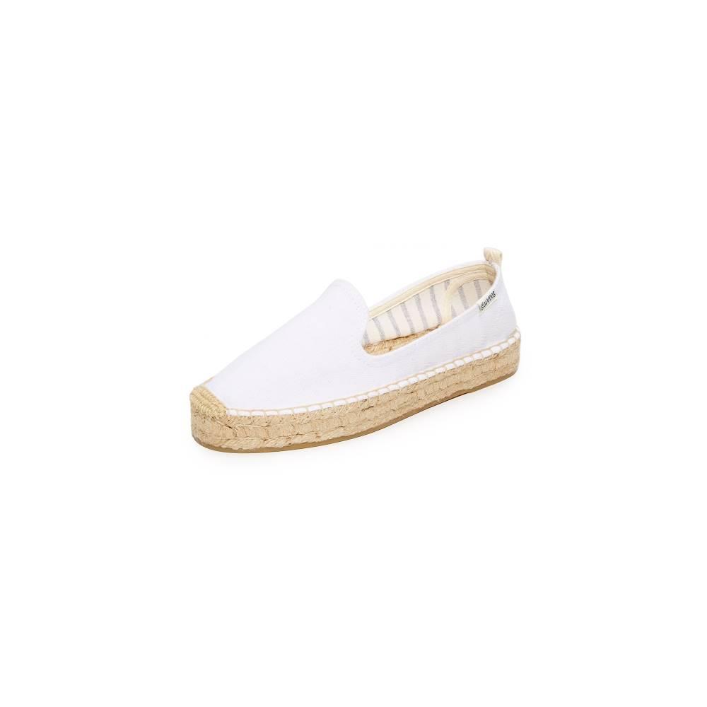 ソルドス Soludos レディース シューズ・靴 フラット【Platform Smoking Slippers】White