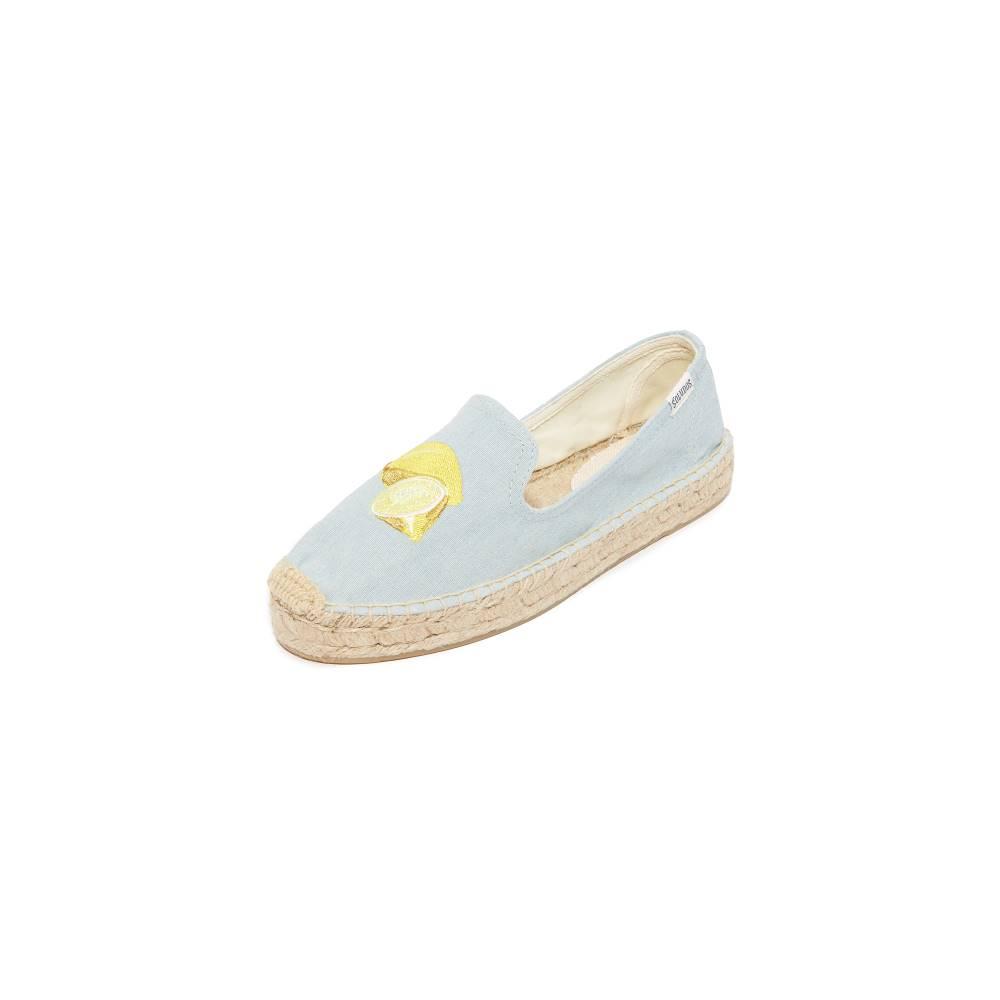 ソルドス Soludos レディース シューズ・靴 フラット【Lemon Platform Espadrilles】Chambray