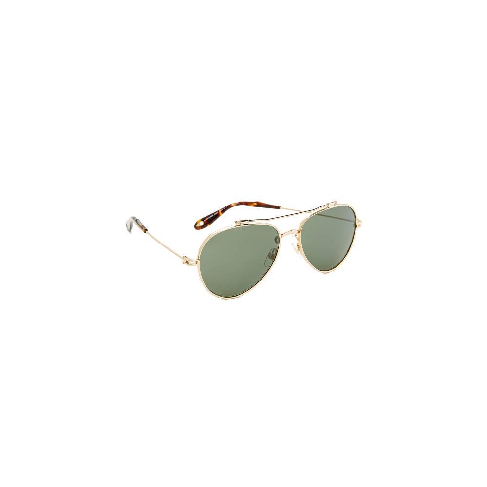 ジバンシー Givenchy レディース アクセサリー メガネ・サングラス【Aviator Sunglasses】Gold/Green
