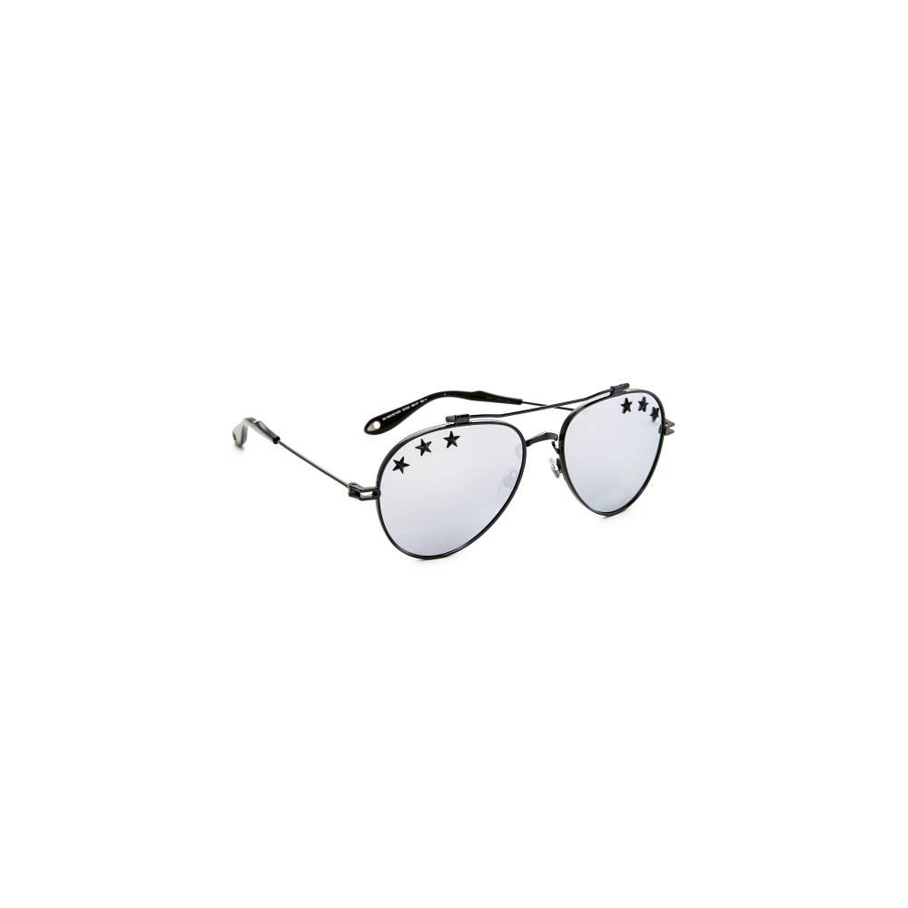 ジバンシー Givenchy レディース アクセサリー メガネ・サングラス【Stars Aviator Sunglasses】Black/Silver
