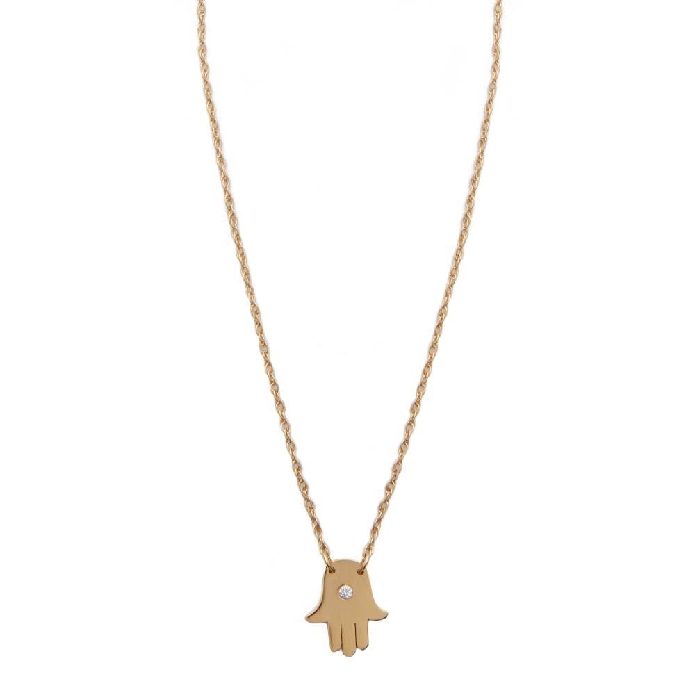 ジェニファーズーナー Jennifer Zeuner Jewelry レディース アクセサリー ネックレス【Mini Hamsa Diamond Necklace】Vermeil
