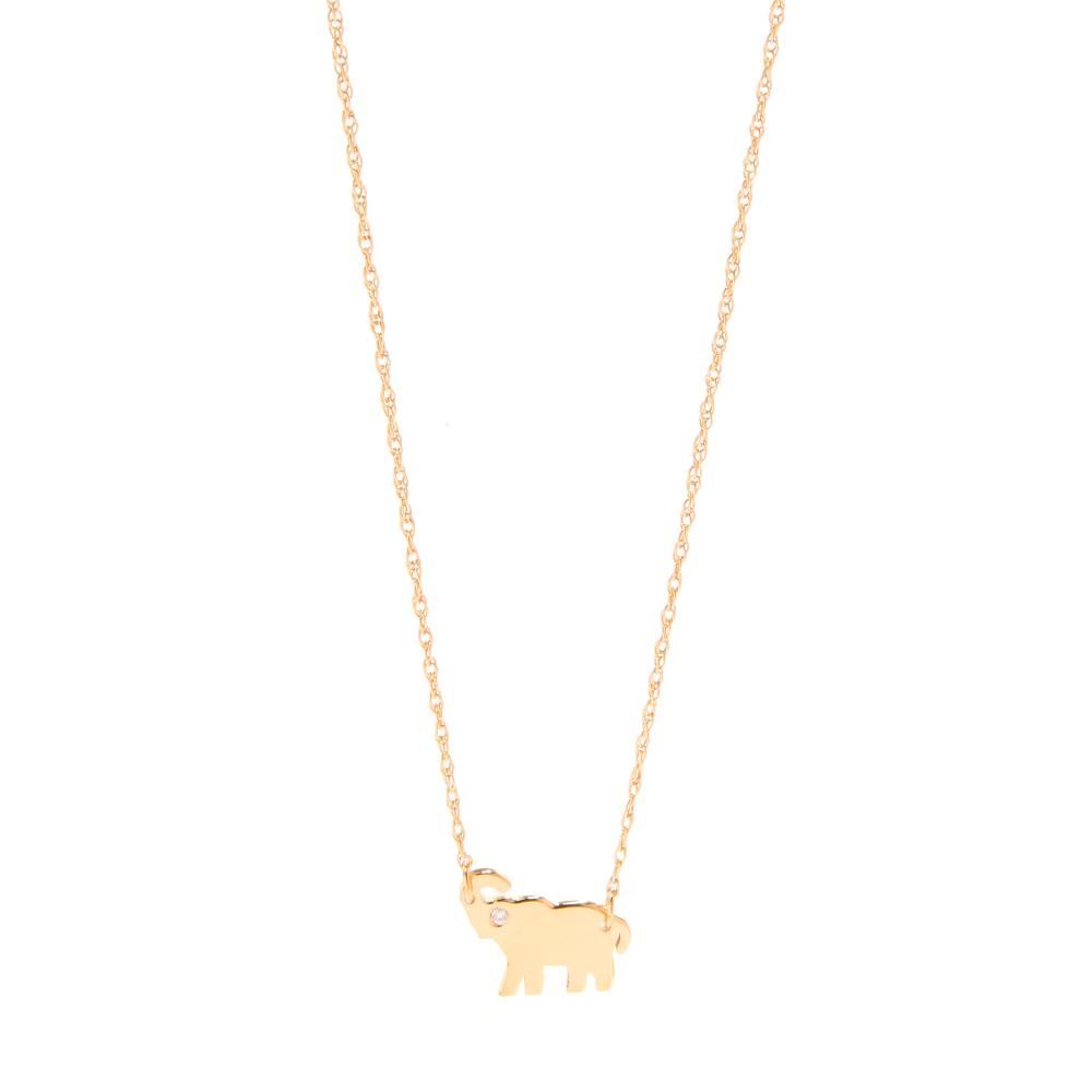 ジェニファーズーナー Jennifer Zeuner Jewelry レディース アクセサリー ネックレス【Mini Elephant Necklace with Diamond】Gold