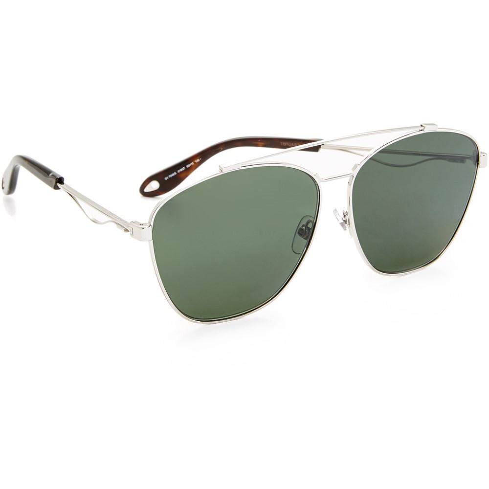 ジバンシー Givenchy レディース アクセサリー メガネ・サングラス【Square Aviator Sunglasses】Palladium/Green