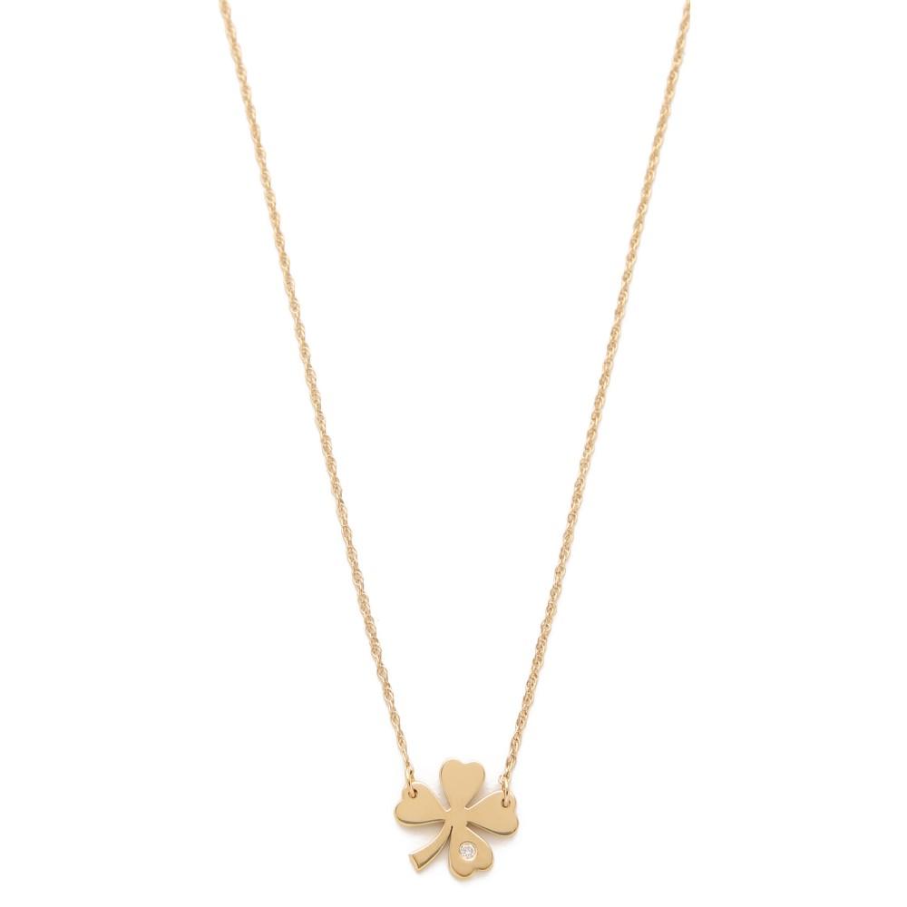 ジェニファーズーナー Jennifer Zeuner Jewelry レディース アクセサリー ネックレス【Clover Necklace with Diamond】Gold