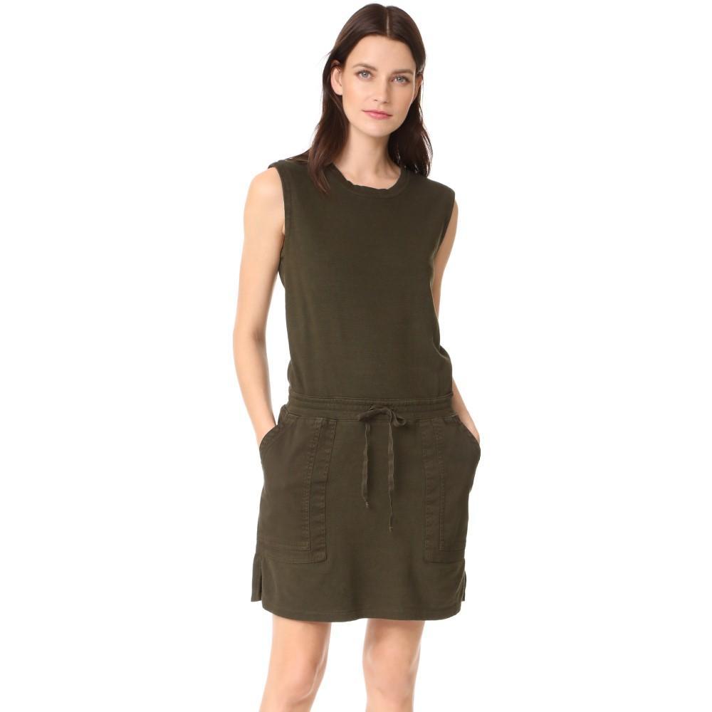 ジェームス パース レディース ワンピース・ドレス ワンピース【Contrast Sweatshirt Dress】Smoky Green