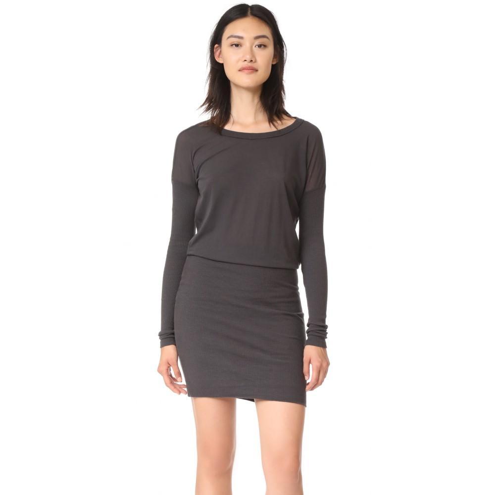 ジェームス パース レディース ワンピース・ドレス ワンピース【Contrast Rib Pullover Dress】Carbon