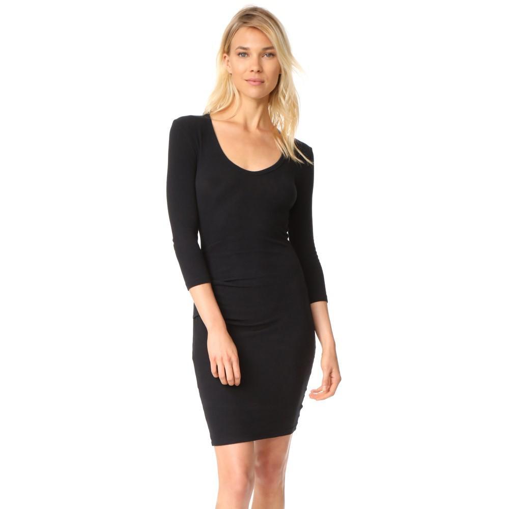 ジェームス パース レディース ワンピース・ドレス ワンピース【Skinny Tucked Dress】True Black