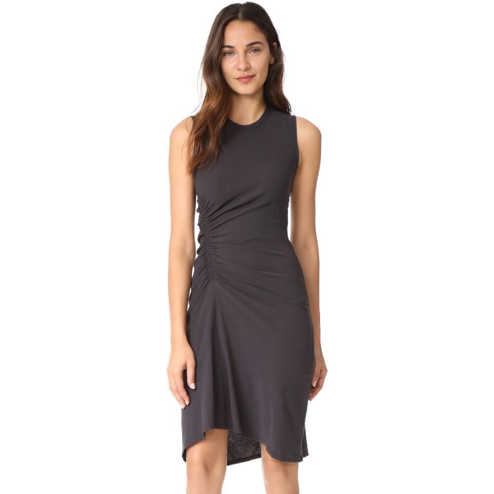 ジェームス パース レディース ワンピース・ドレス ワンピース【Spiral Shirred Dress】Carbon
