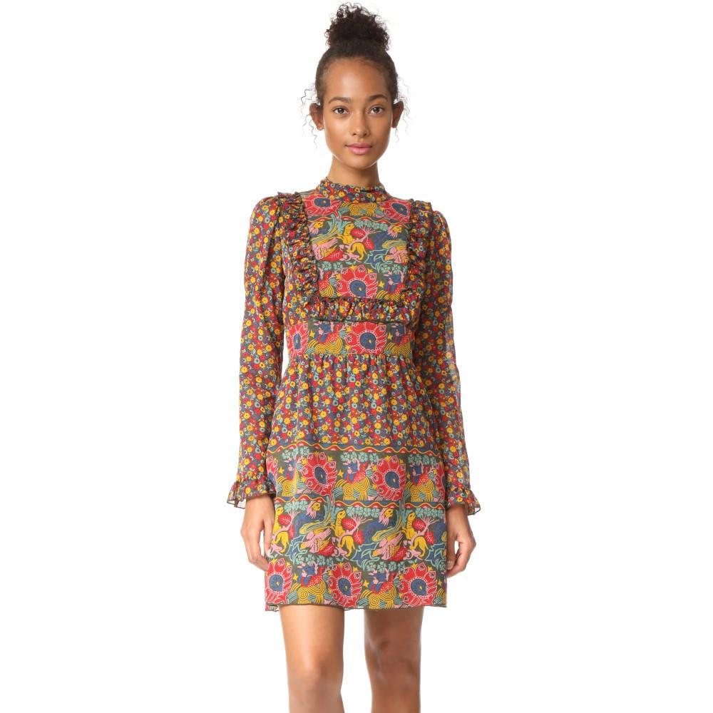 アナスイ レディース ワンピース・ドレス ワンピース【Lion Border Dress】Fern Multi