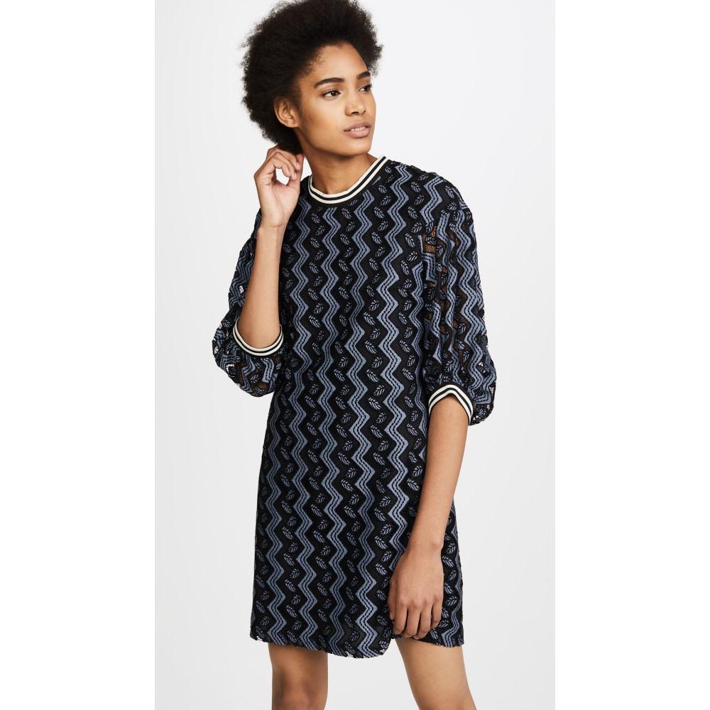 アナスイ レディース ワンピース・ドレス ワンピース【Zigzag Leaf Lace Dress】Black Multi