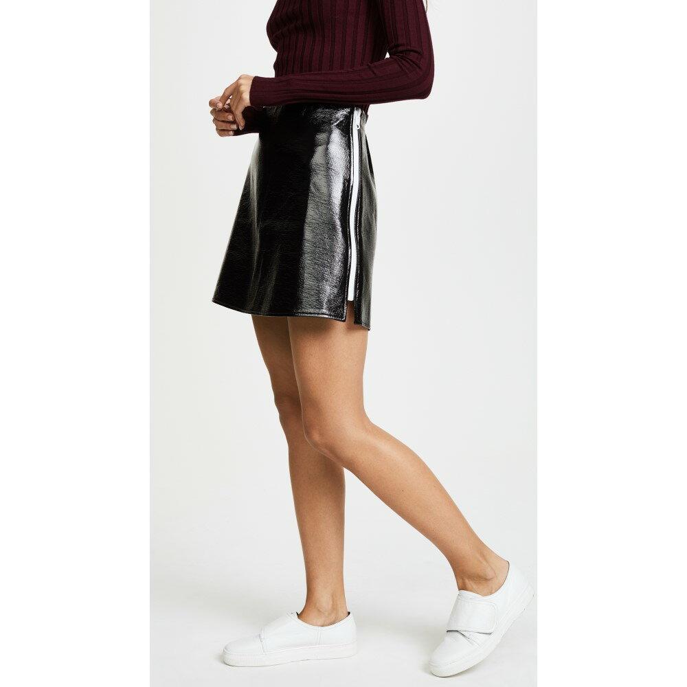 クレージュ レディース スカート ミニスカート【Jupe Vinyl Zip Miniskirt】Noir