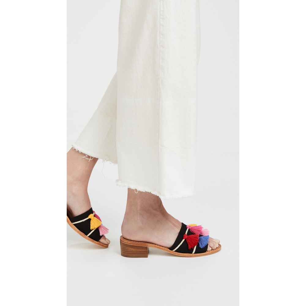 ソルドス レディース シューズ・靴 サンダル・ミュール【Tassel City Sandals】Black Multi
