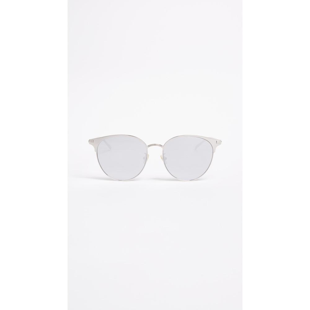 イヴ サンローラン レディース メガネ・サングラス【SL 202 Sunglasses】Silver/Silver White