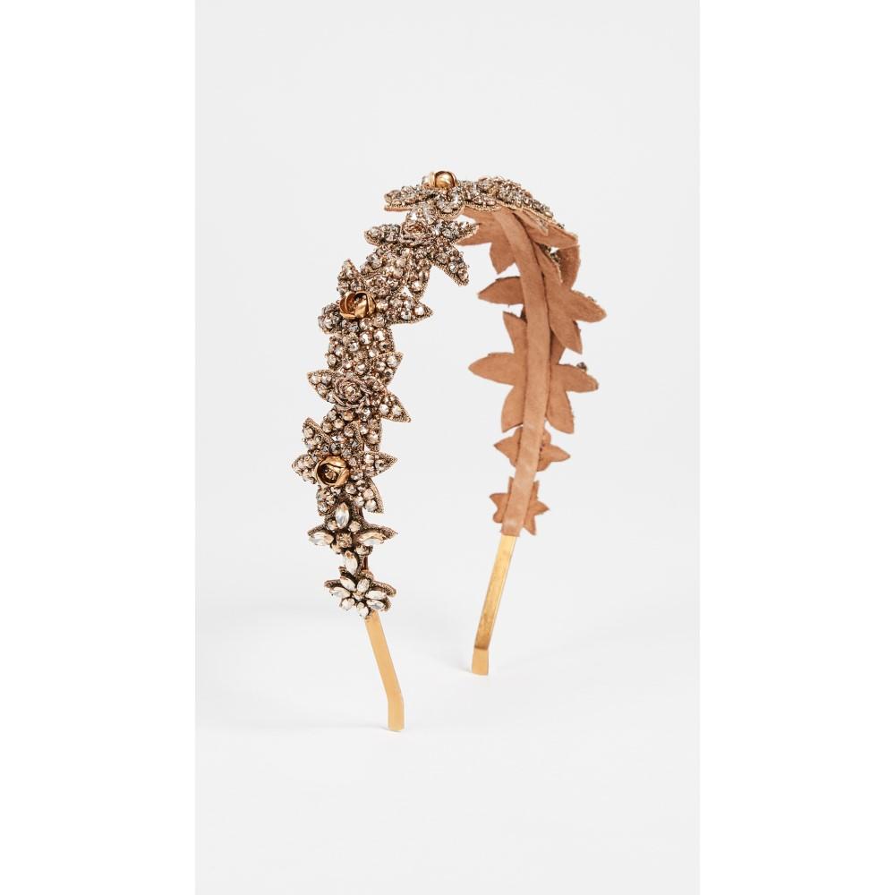 ディーパグルナニ レディース ヘアアクセサリー【Lina Crystal Headband】Gold