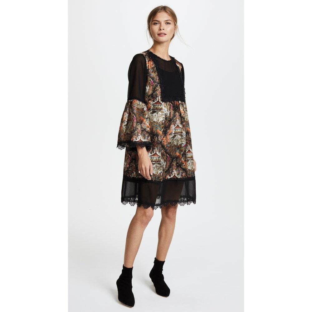 アナスイ レディース ワンピース・ドレス ワンピース【Pagoda Print Dress】Black Multi