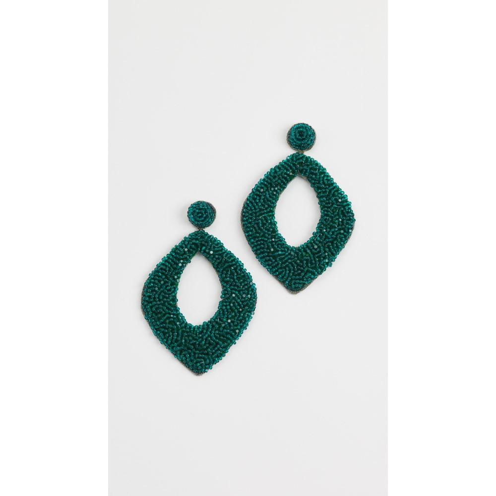 ディーパグルナニ レディース ジュエリー・アクセサリー イヤリング・ピアス【Erte by Deepa Gurnani Kate Earrings】Emerald