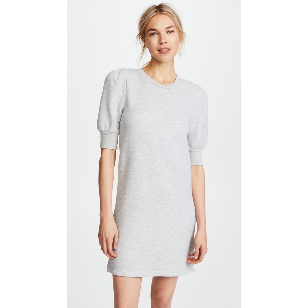 カレント エリオット レディース ワンピース・ドレス ワンピース【The Pleat Sweatshirt Dress】Light Heather Grey Terry