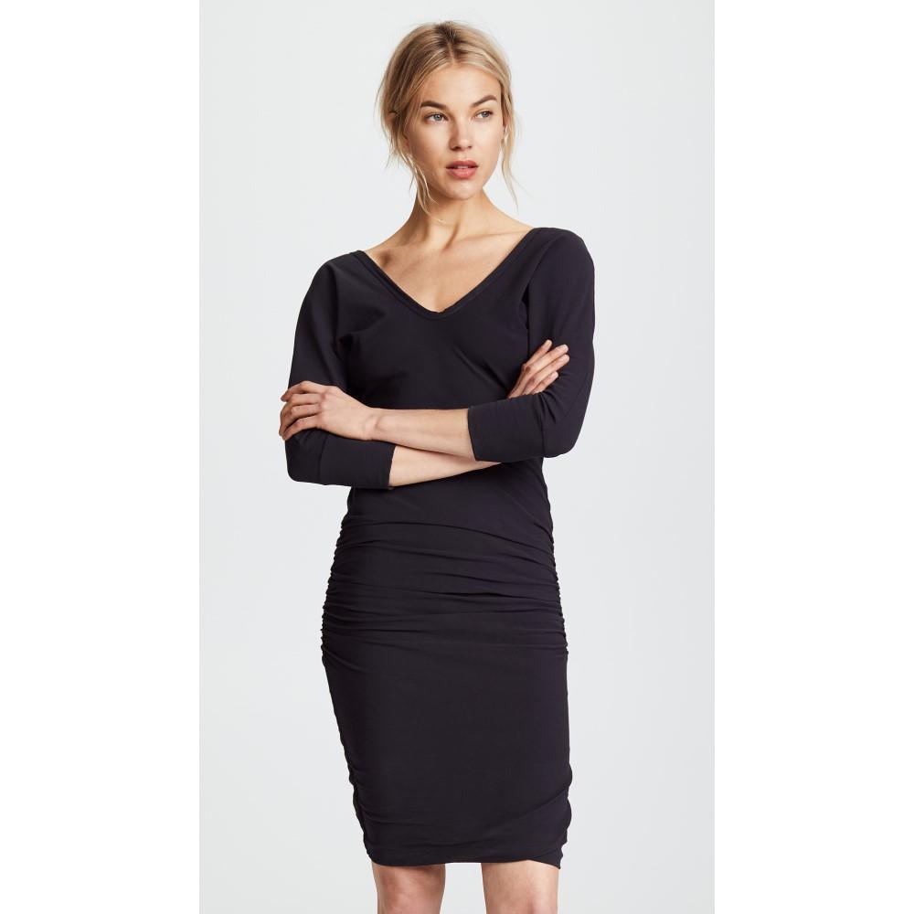 ジェームス パース レディース ワンピース・ドレス ワンピース【High Twist Jersey Deep V Dress】Carbon