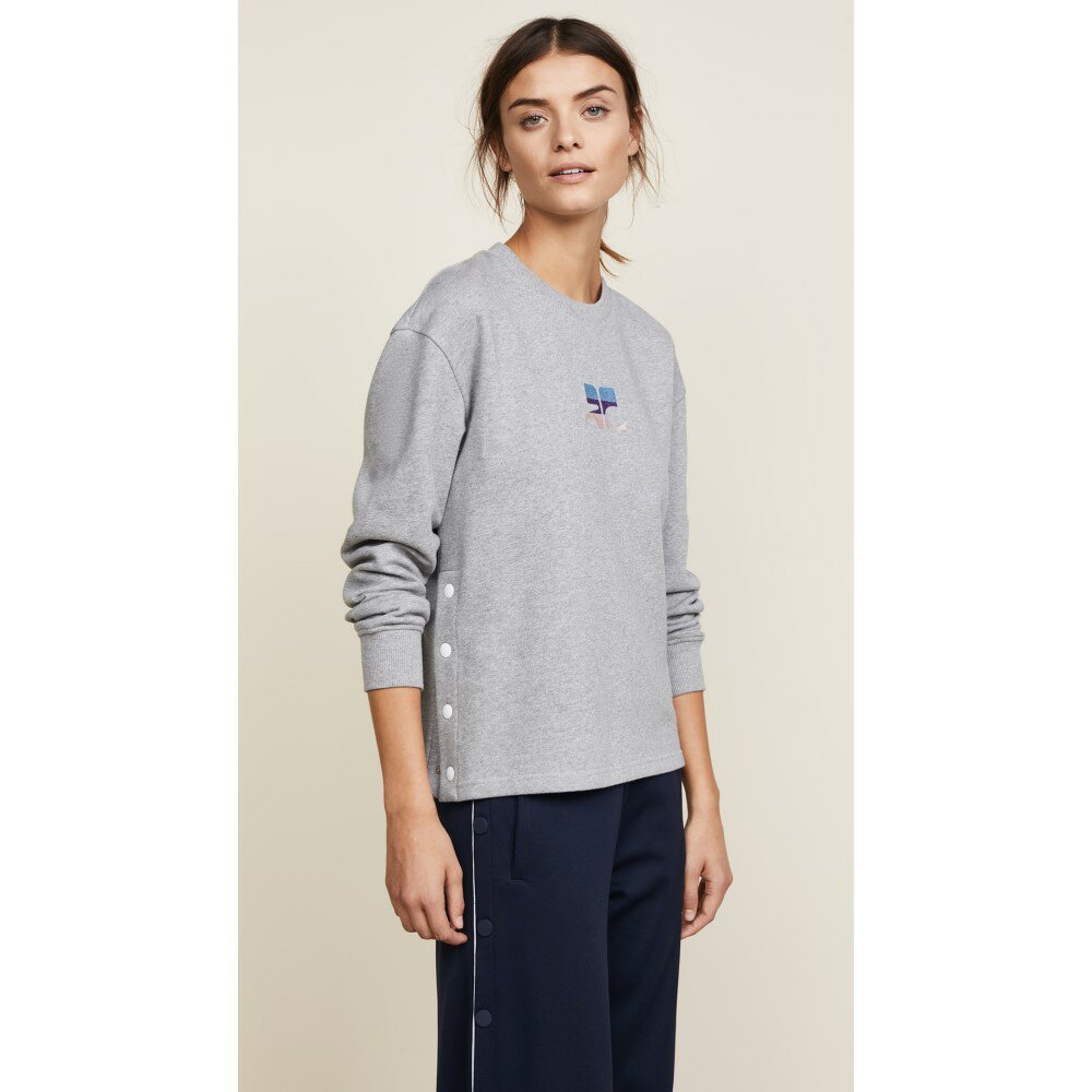 クレージュ レディース トップス スウェット・トレーナー【Logo Side Snapped Sweatshirt】Grey