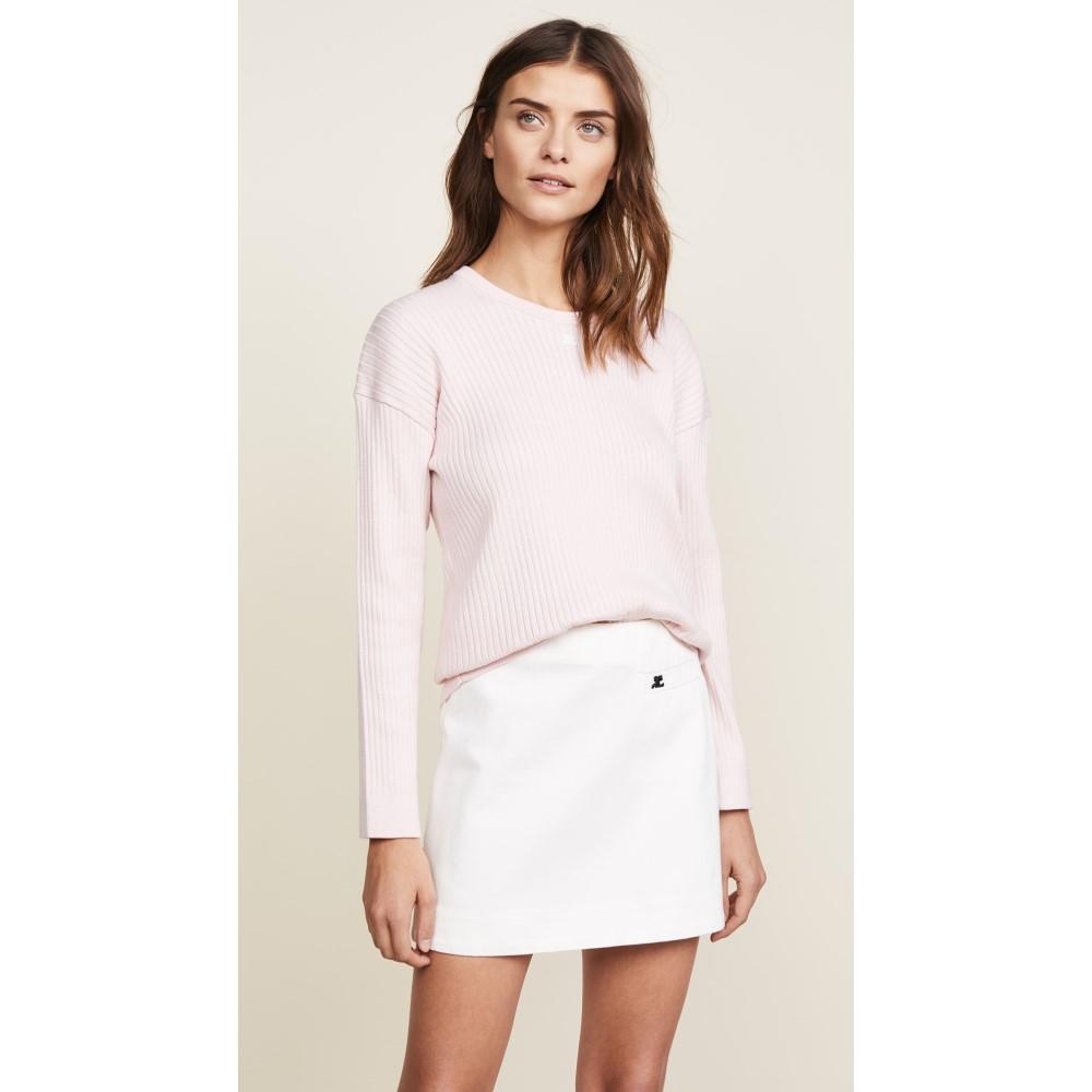 クレージュ レディース トップス ニット・セーター【Oversized Long Sleeves Pullover】Light Pink