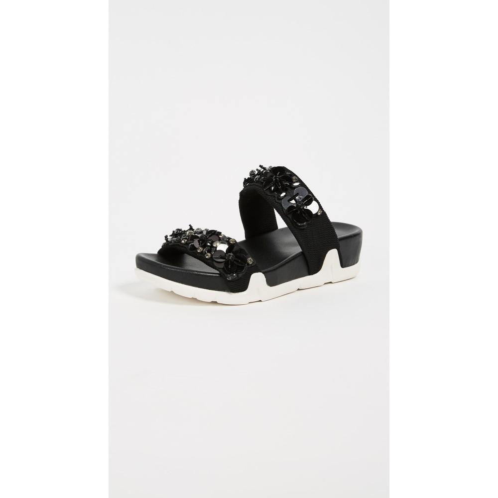 アッシュ レディース シューズ・靴 サンダル・ミュール【Oman Flowers Sandals】Black/Black