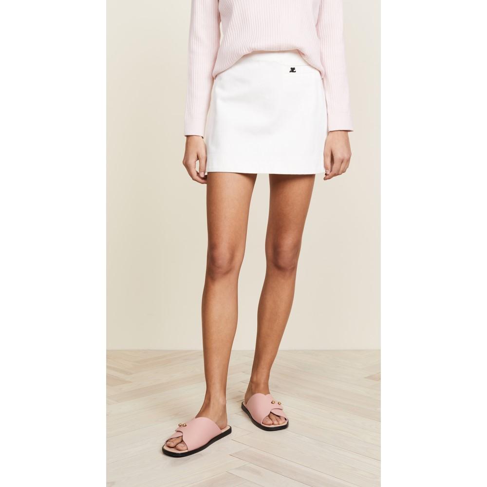 クレージュ レディース スカート ミニスカート【Mini Skirt with Pocket】White