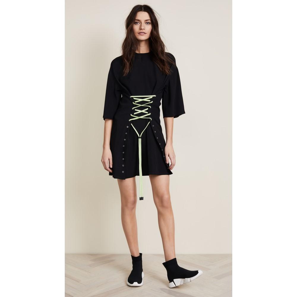 ヴェルサーチ レディース ワンピース・ドレス ワンピース【Woven Dress with Corset】Black