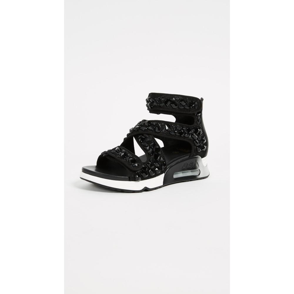 アッシュ レディース シューズ・靴 サンダル・ミュール【Lips Stones Sandals】Black/Black