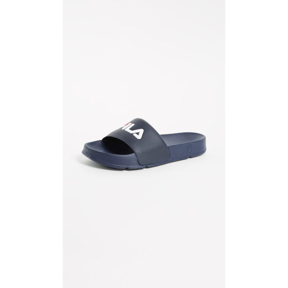 フィラ レディース シューズ・靴 サンダル・ミュール【Drifter Slides】Fila Navy/Fila Red/White